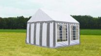 Classic Plus Partytent PVC 5x4x2 mtr in Wit-Grijs