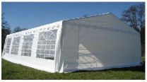 Classic Partytent PE 4x8x2 mtr in Wit