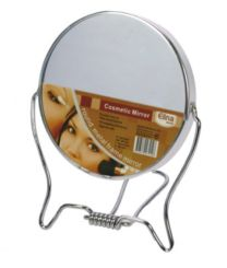 Metalen Spiegel 2-zijdig 9,5 cm