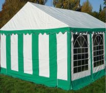 Classic Plus Partytent PVC 4x8x2 mtr in Wit-Groen