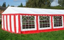 Classic Plus Partytent PVC 4x8x2 mtr in Wit-Rood