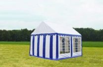 Classic Plus Partytent PVC 4x4x2 mtr in Wit-Blauw