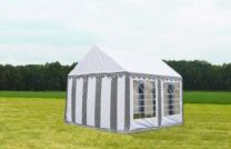 Classic Plus Partytent PVC 4x4x2 mtr in Wit-Grijs
