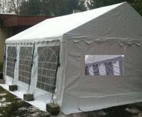 Classic Plus Partytent PVC 5x8x2 mtr in Wit-Grijs