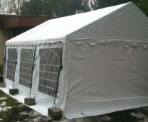 Classic Plus Partytent PVC 6x6x2 mtr in Wit