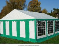 Classic Plus Partytent PVC 3x6x2 mtr in Wit-Groen