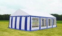 Classic Plus Partytent PVC 6x8x2 mtr in Wit-Blauw