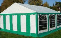 Classic Plus Partytent PVC 5x10x2 mtr in Wit-Groen