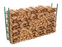 Verstelbaar houtstapelrek groen