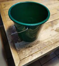 Emmer 5 L met stalen hengsel in groen (set van 2 stuks)