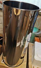 Afvalbak zonder deksel , prullenbak, vuilnisbak, RVS, 56 L, rvs