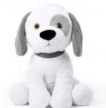 Pluche Hond 50 cm Wit-Grijs