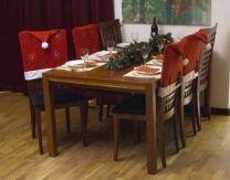 Stoelhoes kerst | Kerst | Kersthoezen | Kerstversiering | Rood | Kerstmuts | Stoel | Kerstmis | Decoratie
