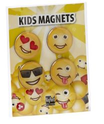 Magneetset smiley - set van 4 stuks