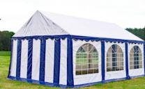 Premium Partytent PVC 4x6x2 mtr in Wit-Blauw