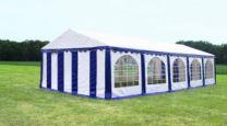 Premium Partytent PVC 5x10x2 mtr in Wit-Blauw
