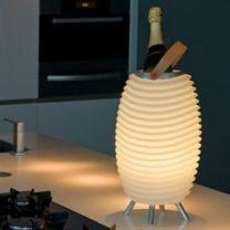 Lamp Kooduu Synergy 35-S - Bluetooth Speaker - LED Lamp - Wijnkoeler