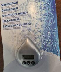 Showercoach Grijs- Waterbesparend - Tijdbesparend - Douchetimer - Douche wekker