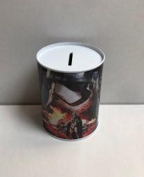 Metalen spaarblik Star Wars zwart 10 x 7,5 cm