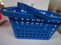 Wasknijpermandje kunststof met hendel kleur blauw
