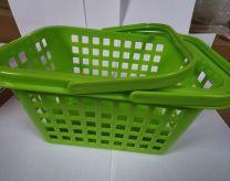 Wasknijpermandje kunststof met hendel kleur groen