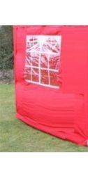 Zijwand Easy Up 2,5 mtr met raam kleur Rood