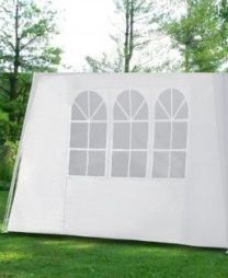 Losse zijwand voor PE Partytent 3 mtr breed wit