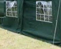Zijwand Easy Up 6 mtr met raam kleur Groen
