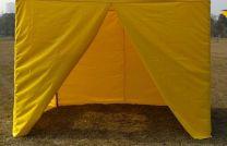 Zijwand Easy Up 3 mtr met middenrits kleur Geel