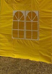 Zijwand Easy Up 2 mtr met raam kleur Geel